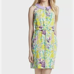Kate Spade Silk Floral Peter Pan Collar Dress